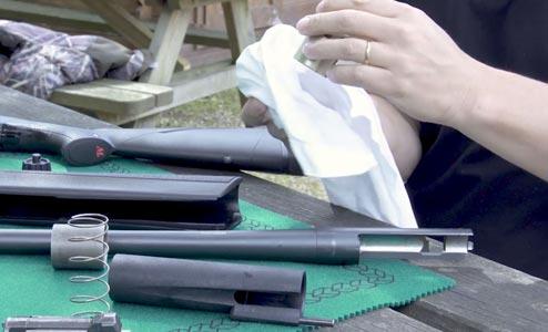 nettoyage d'armes